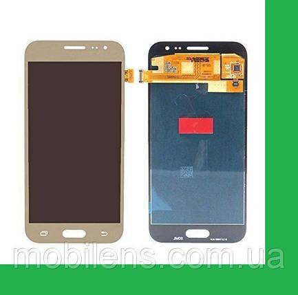 Samsung J200, J200F, J200G, J200H, Galaxy J2 Дисплей+тачскрин(сенсор) золотистый, фото 2