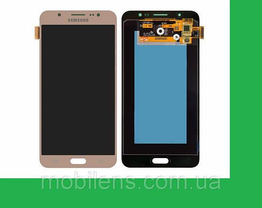 Samsung J710, J710F, J710H, Galaxy J7 (2016) Дисплей+тачскрин(сенсор) золотистый, фото 2