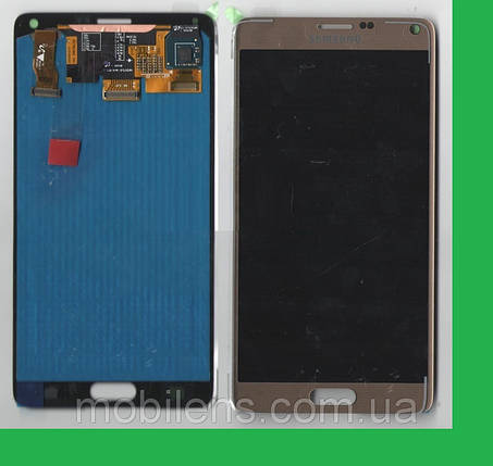 Samsung N910, N910H, N910F, Galaxy Note 4 Дисплей+тачскрин(сенсор) золотистый, фото 2