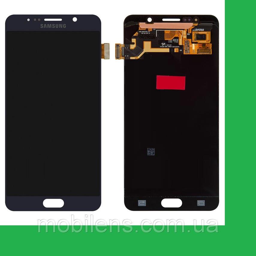 Samsung N920, N9200, Galaxy Note 5 Дисплей+тачскрин(сенсор) темно-синий (черный)