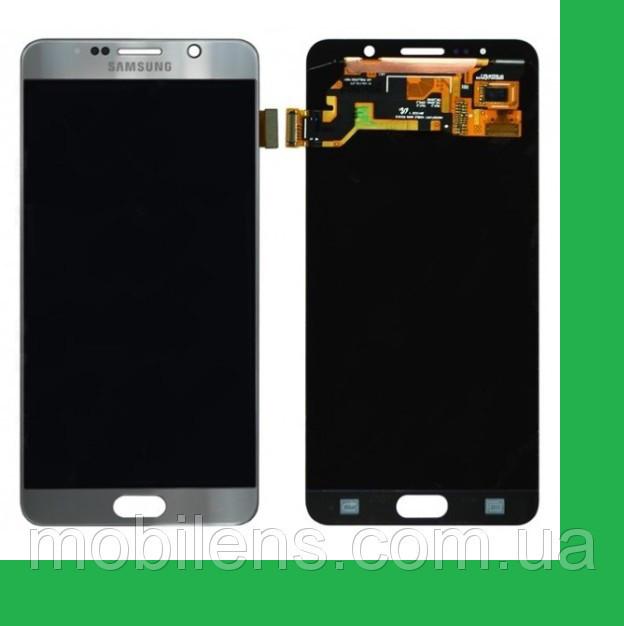Samsung N920, N9200, Galaxy Note 5 Дисплей+тачскрин(сенсор) серый (серебристый)