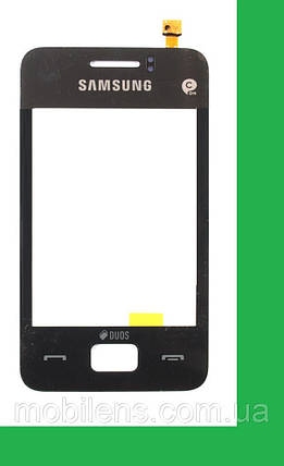 Samsung S5220, S5222 Star 3 Тачскрин (сенсор) черный, фото 2