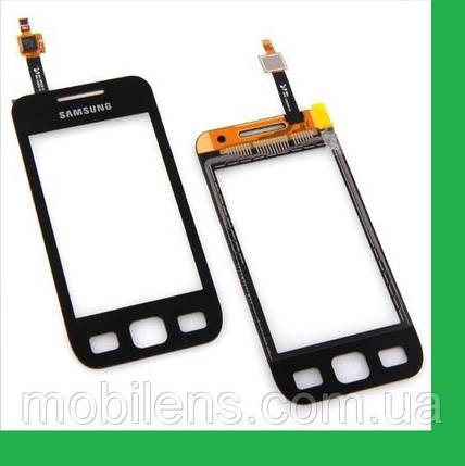 Samsung S5250, S5750,Wave 525 Тачскрин (сенсор) черный, фото 2