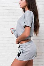 "Летний женский костюм вискоза ""PLAYBOY"" с футболкой, фото 2"