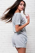 "Летний женский костюм вискоза ""PLAYBOY"" с футболкой, фото 3"