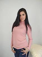Женская водолазка светло-розового цвета из полушерсти 40-52 р f5aec953904e1