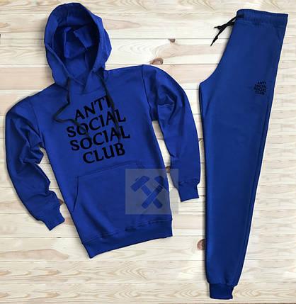 Костюм спортивный Anti Social Club синий топ реплика, фото 2