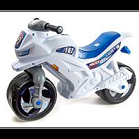 Мотоцикл 2-х колесный полицейский с каской арт. 501