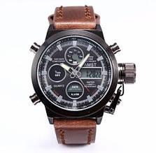 Мужские часы Аmst am 3003 темно-коричневые копия