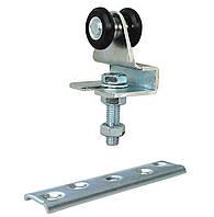 Каретка регулируемая с пластиной 2 ролика 24 мм.нейлон  до 70 кг.