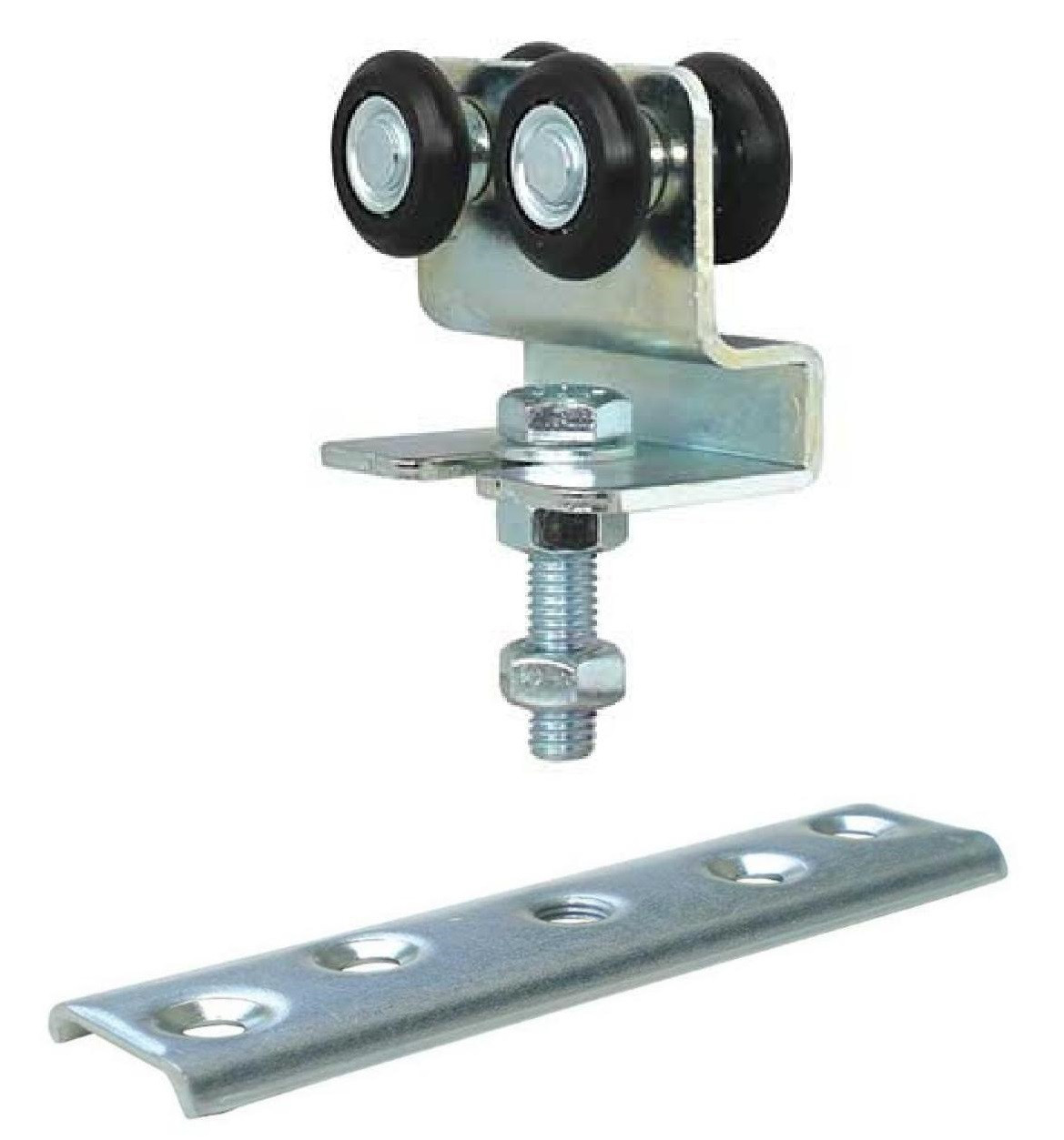 Каретка регулируемая с пластиной 4 ролика 24 мм.нейлон  до 90 кг.