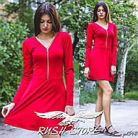 Женское расклешенное платье на молнии, фото 1