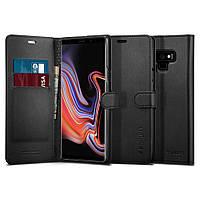 Книжка-Чехол Spigen для Galaxy Note 9 Wallet S, Black (599CS24579)