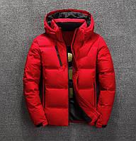 Мужская зимняя куртка пуховик JEEP в наличии! (BRG_02), красный / РАЗМЕР
