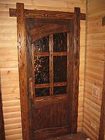 Двери под старину из натуральных материалов.