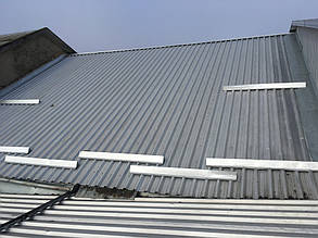Южный скат крыши дома до монтажа солнечных модулей.