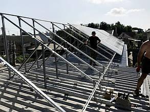 Вид опорных конструкций для плоской крыши.