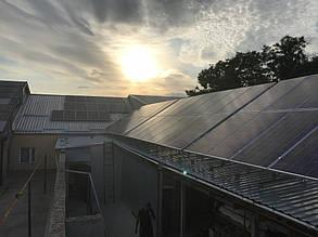 Два фотоэлектрических поля солнечной станции.