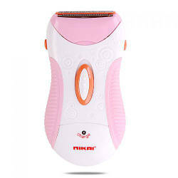 Епілятор жіноча акумуляторна електробритва Nikai NK-7699 рожева (4390)