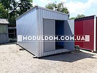 Хозяйственный модуль 6х2,4м с распашными воротами.