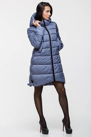 Зимняя женская удлинённая куртка KTL-131 темно-голубого цвета (#595), фото 2