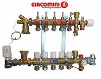 Коллектор для теплого пола Giacomini в сборе на 8 контуров, фото 1