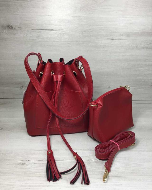 Сумка шоппер женская красная