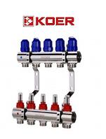 """Коллекторный блок с расходомерами Koer KR.1110-05 1""""x5 WAYS, фото 1"""