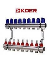 """Колекторний блок з витратомірами Koer KR.1110-09 1""""x9 WAYS, фото 1"""
