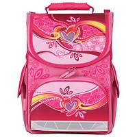Ранец детский ортопедический TIGER  Сердечки (школьный рюкзак), 13 л, 34х27х19 см + спиннер в подарок!!!