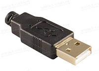 Штекер USB, type A, черный