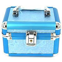 Шкатулка для денег с замком средняя бабочки синяя S8151-2