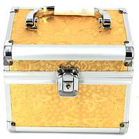 Шкатулка для украшений и косметики большая бабочки золотистая S8151-3