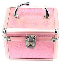 Шкатулка для рукоделья большая бабочки розовая S8151-3