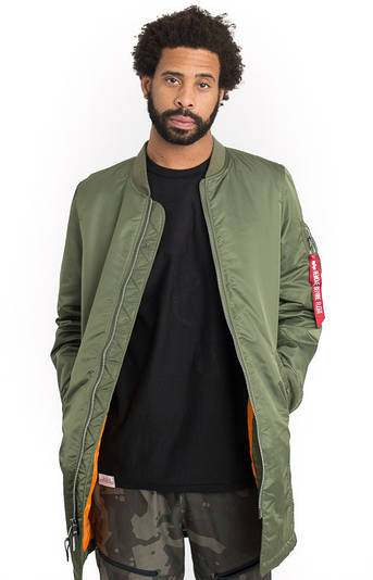 Мужская куртка Alpha Industries MA-1 Long Sage