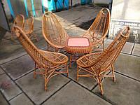 """4 кресла """"Відпочинкові"""" + столик """"Гриб"""""""