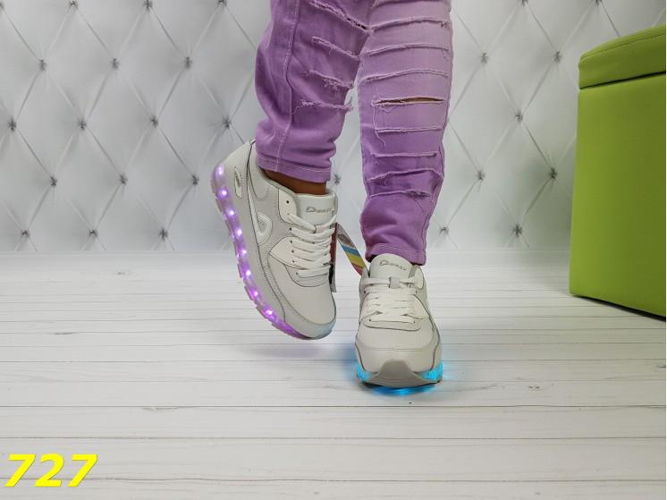 Белые кроссовки аирмаксы с подсветкой Led 36 a6cde27f226c8