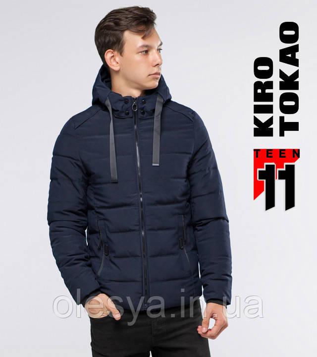 11 Kiro Tokao | Зимняя подростковая куртка 6008-1 темно-синий