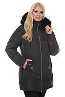 """Зимняя женская куртка с мехом """"Чёрный"""""""