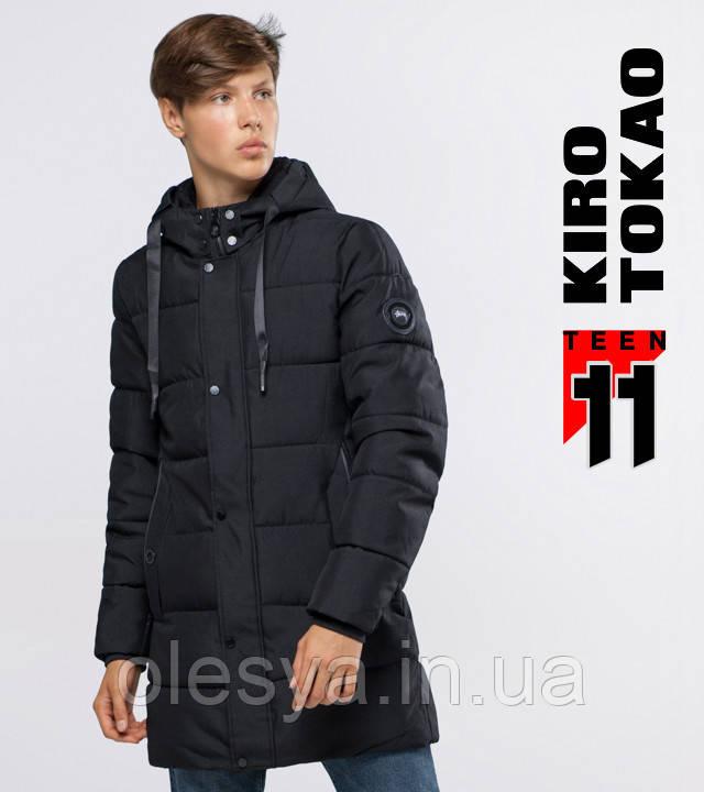 11 Kiro Tokao   Подростковая зимняя куртка 6006-1 черный