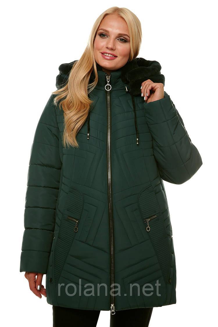 """Зимняя женская куртка с мехом """"Изумруд"""""""