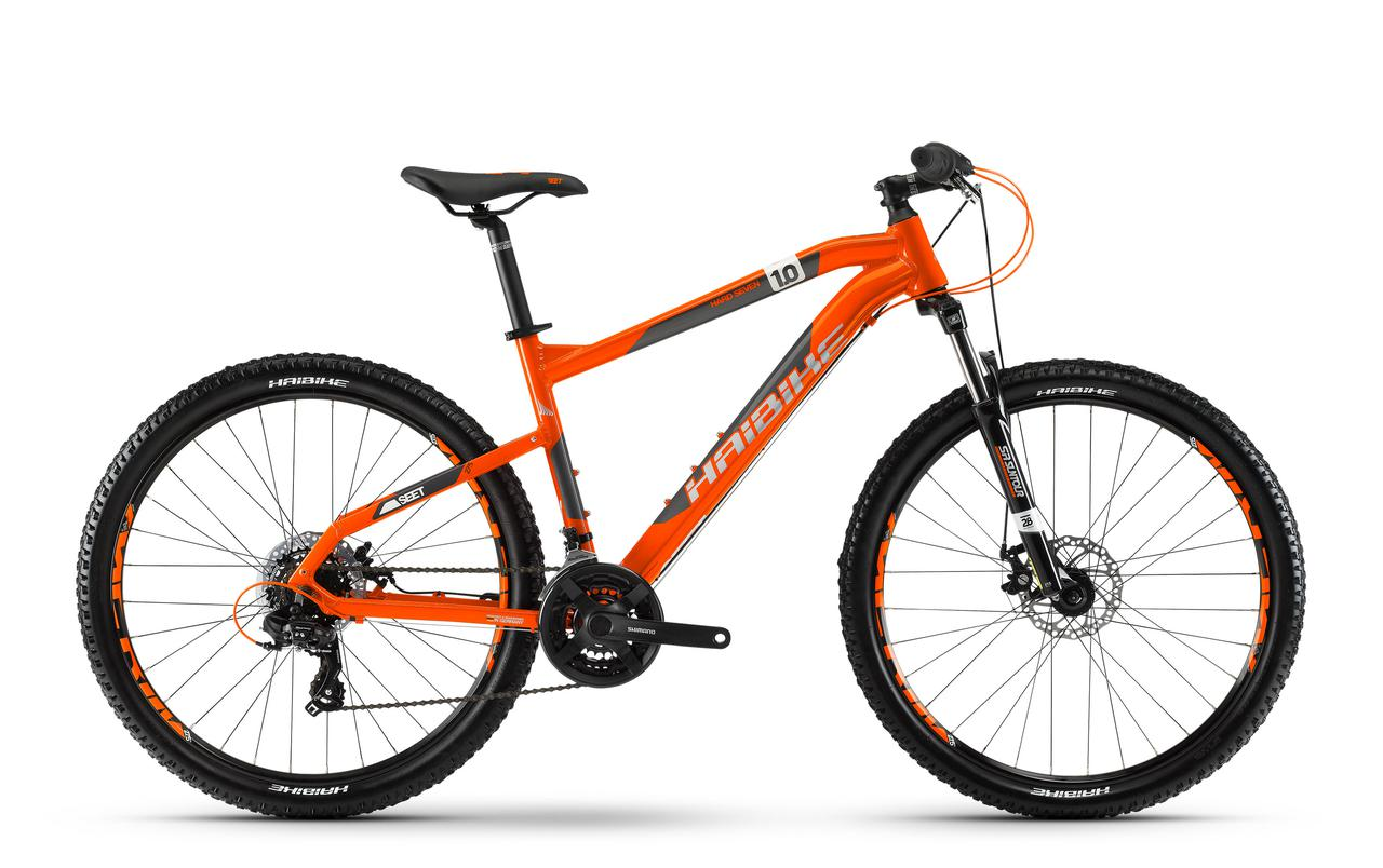 "Велосипед Haibike SEET HardSeven 1.0 27,5"", рама 35см, 2018, оранжевый"