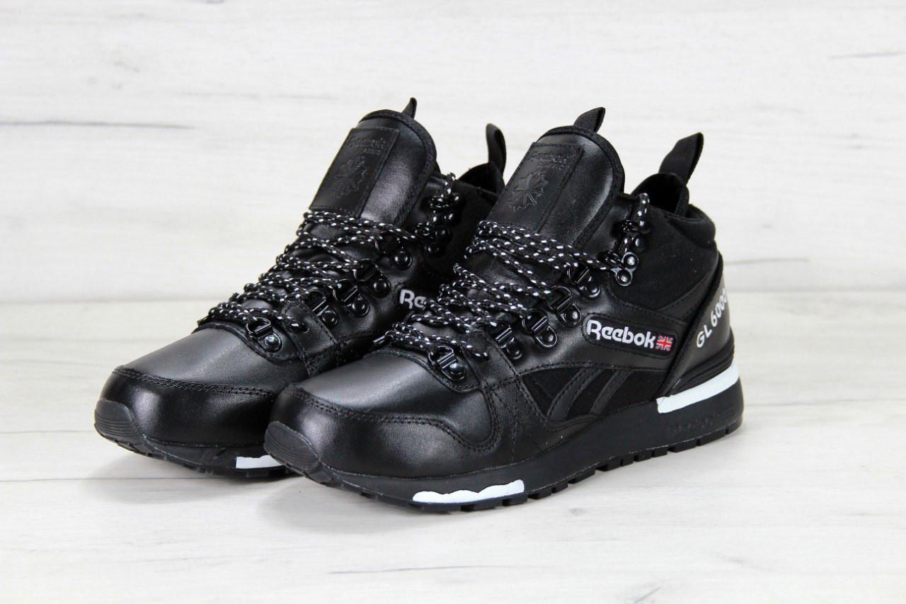Мужские кроссовки Reebok GL6000 High black (реплика)