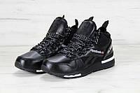 Мужские кроссовки Reebok GL6000 High black (реплика), фото 1