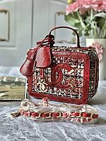 Эффектная сумочка Chanel vanity твид (реплика), фото 1