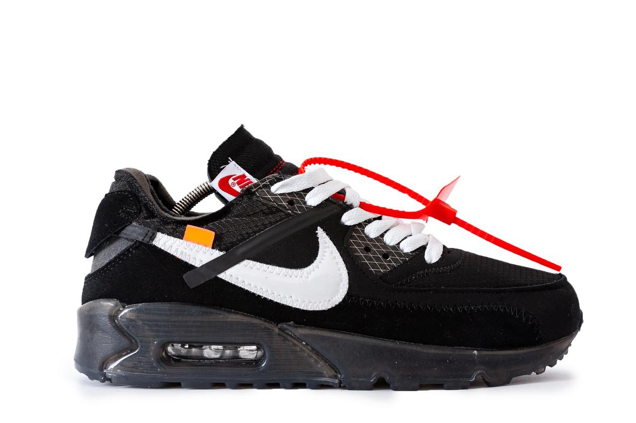 52b2a4c4 Мужские кроссовки Nike Air Max 90 Off-White, Текстиль, Дополнительные  шнурки - Интернет