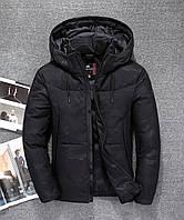 Мужская зимняя куртка пуховик JEEP в наличии! (JP-CAMO_01), чёрный / РАЗМЕР 46.