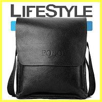 Стильная брендовая мужская кожаная сумка Polo! (Внимание: Уценка!!!)
