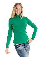 Женская водолазка (гольф) из полушерсти Irvik VH10-407 зеленый, фото 1