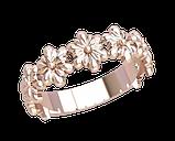 Кольцо  женское серебряное Цветы 21259, фото 2